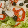 Insalata di pollo con scarola, capperi e peperoncino bishop crown